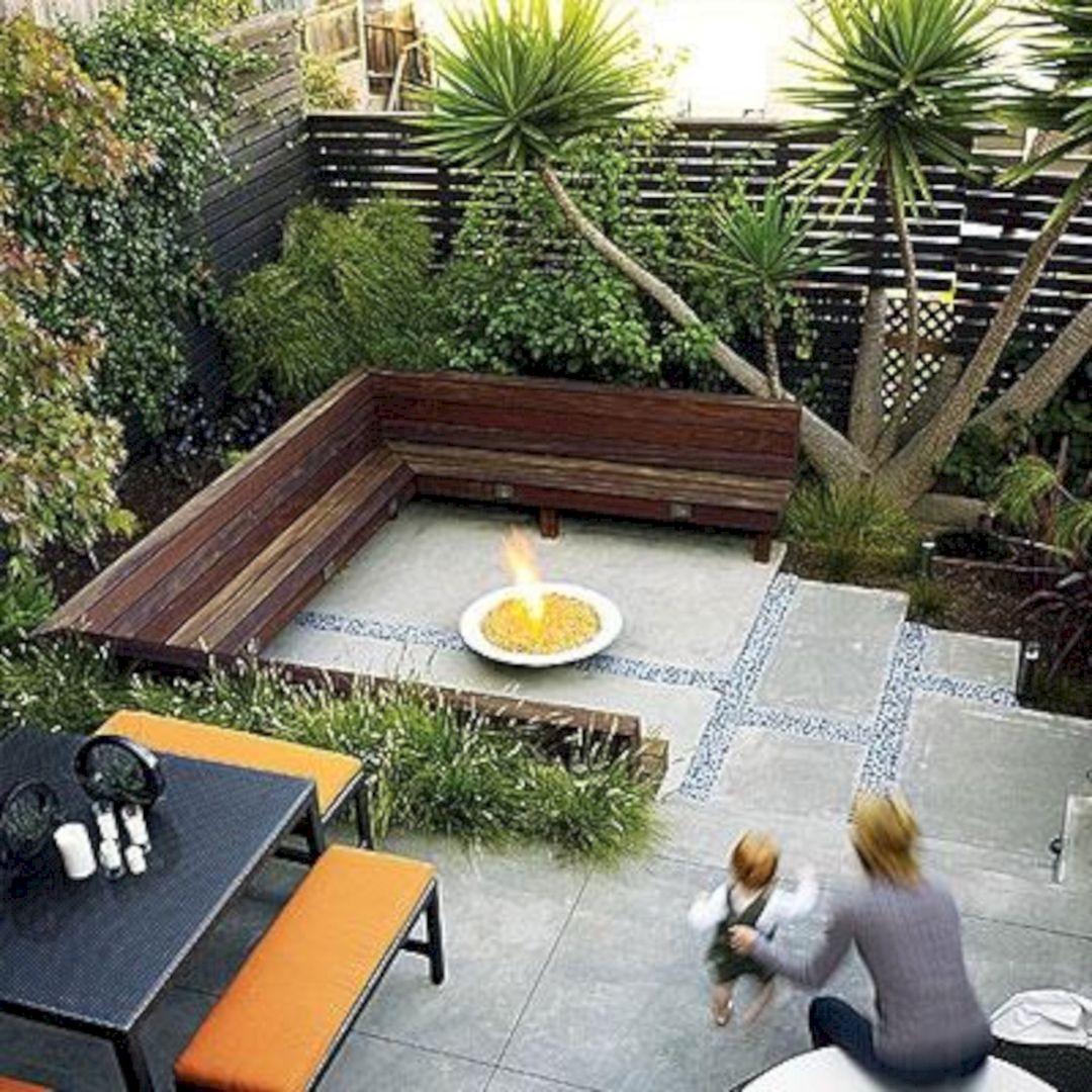 Backyard Ideas For Small Yard  Small backyard patio design with bamboo bench – DECOOR