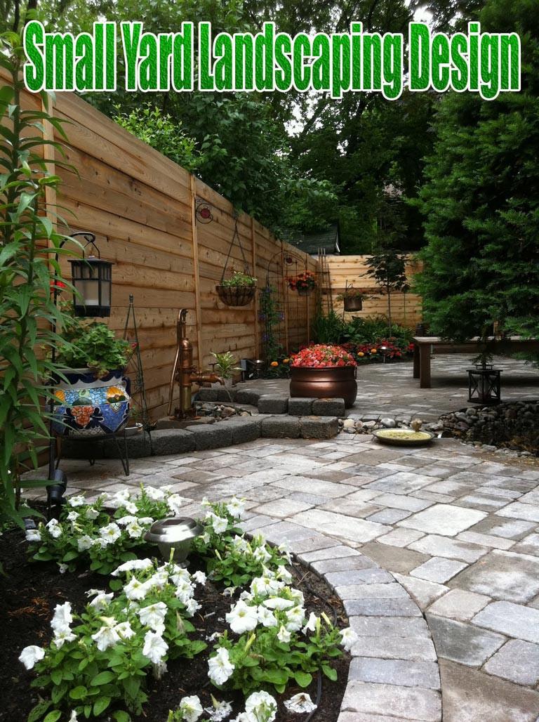 Backyard Ideas For Small Yard  Small Yard Landscaping Design Quiet Corner