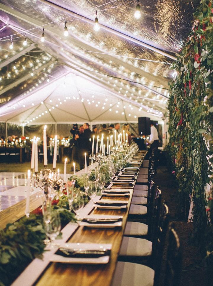 Backyard Wedding Receptions  Elegant Fall Backyard Wedding and very organic & natural