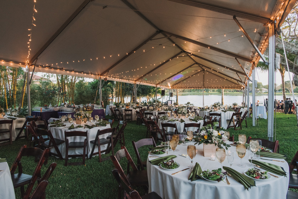 Backyard Wedding Receptions  Elegant Backyard Wedding The Majestic Vision