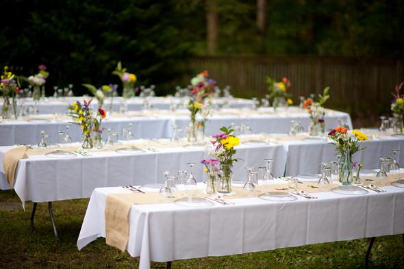 Backyard Wedding Receptions  DIY Vintage Backyard Wedding by 2&3 graphy