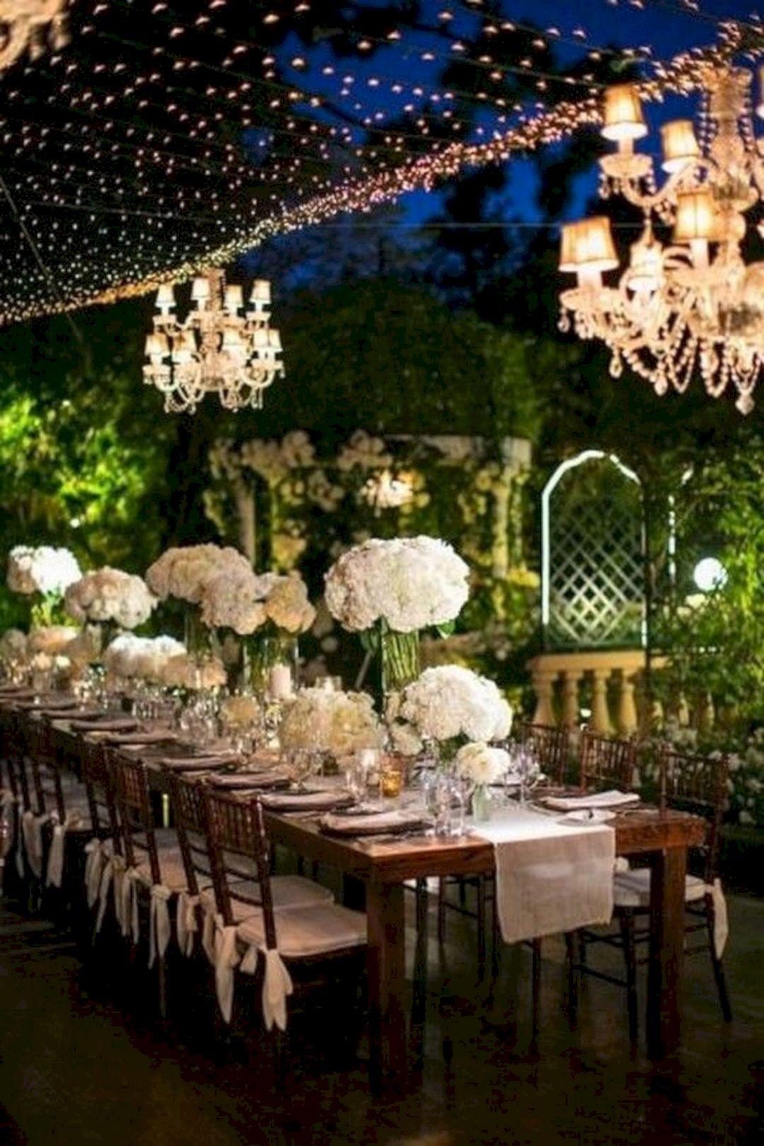 Backyard Wedding Receptions  Romantic Outdoor Wedding Reception Ideas – OOSILE