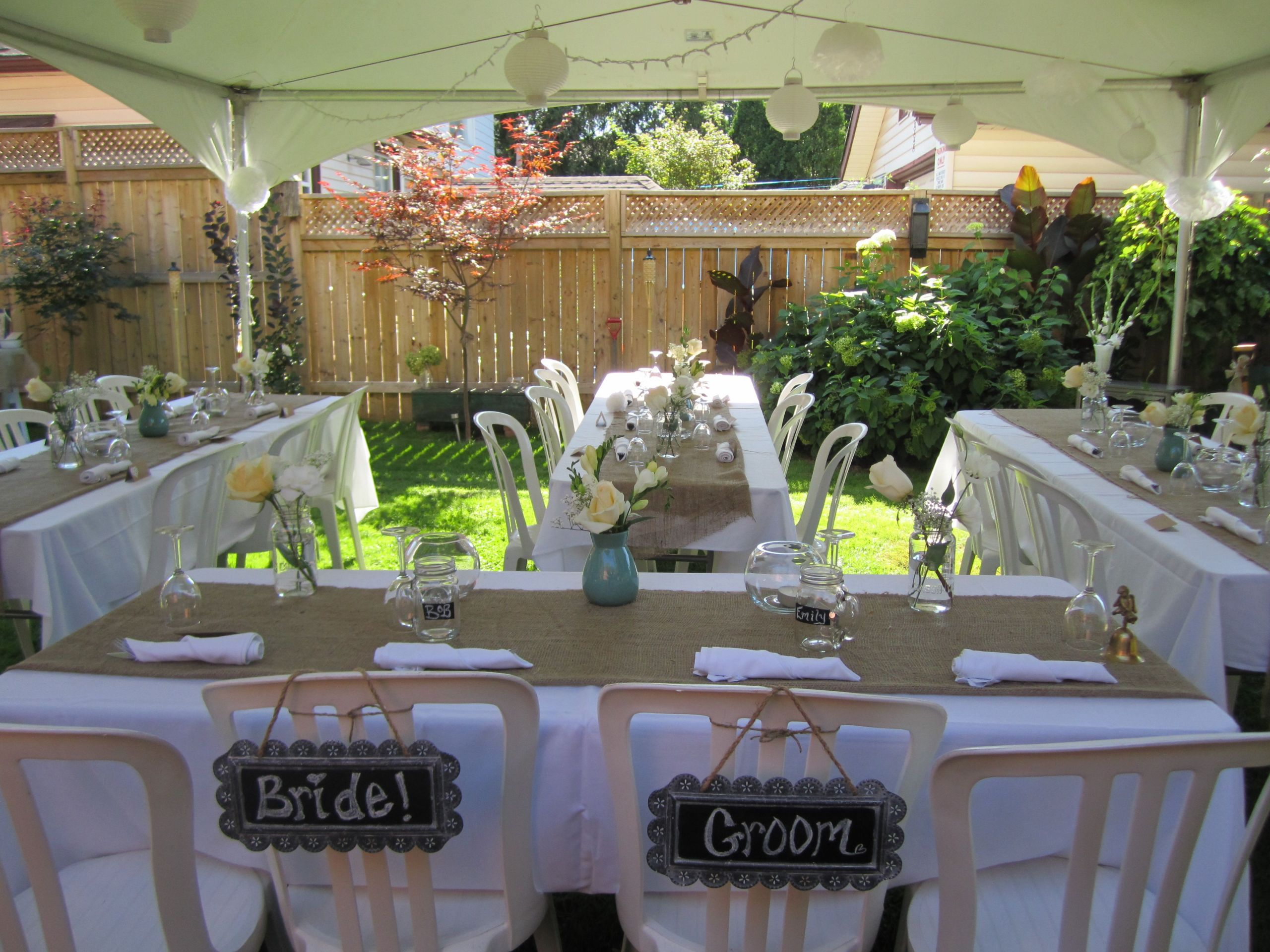 Backyard Wedding Receptions  Ideas For Simple Backyard Weddings