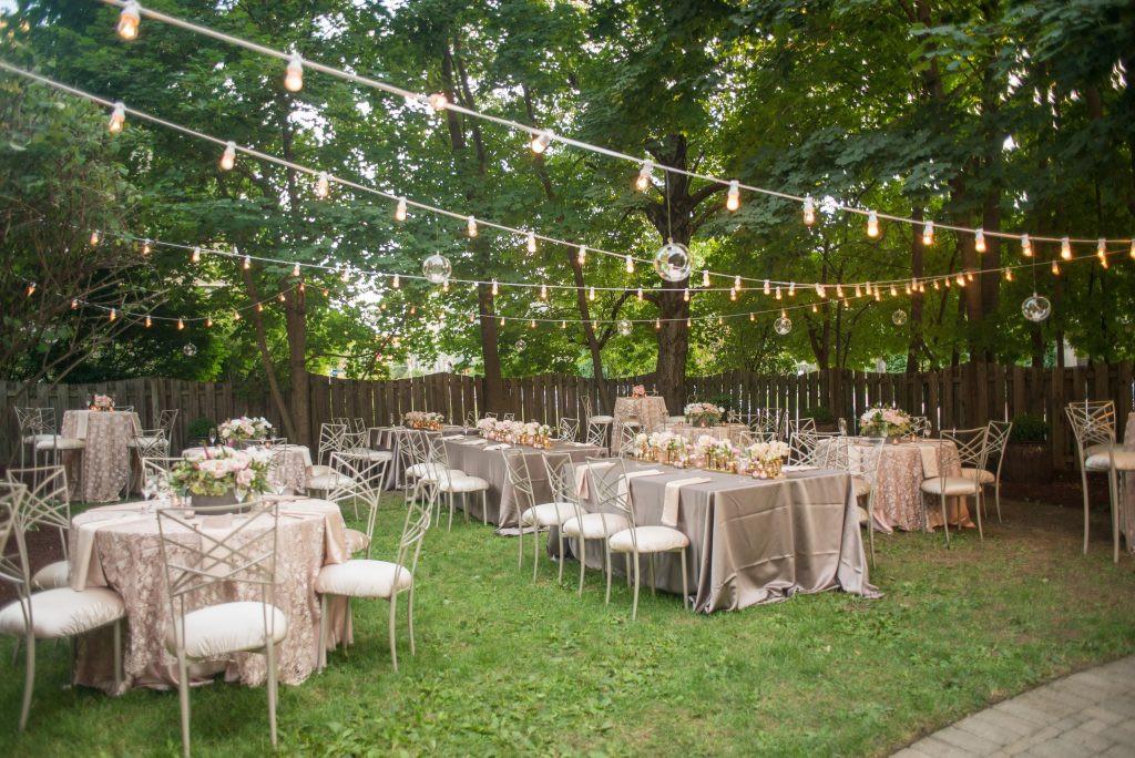 Backyard Wedding Receptions  Romantic Backyard Reception