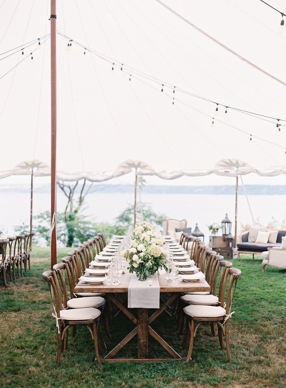 Backyard Wedding Receptions  Chic Backyard Wedding In Washington ce Wed
