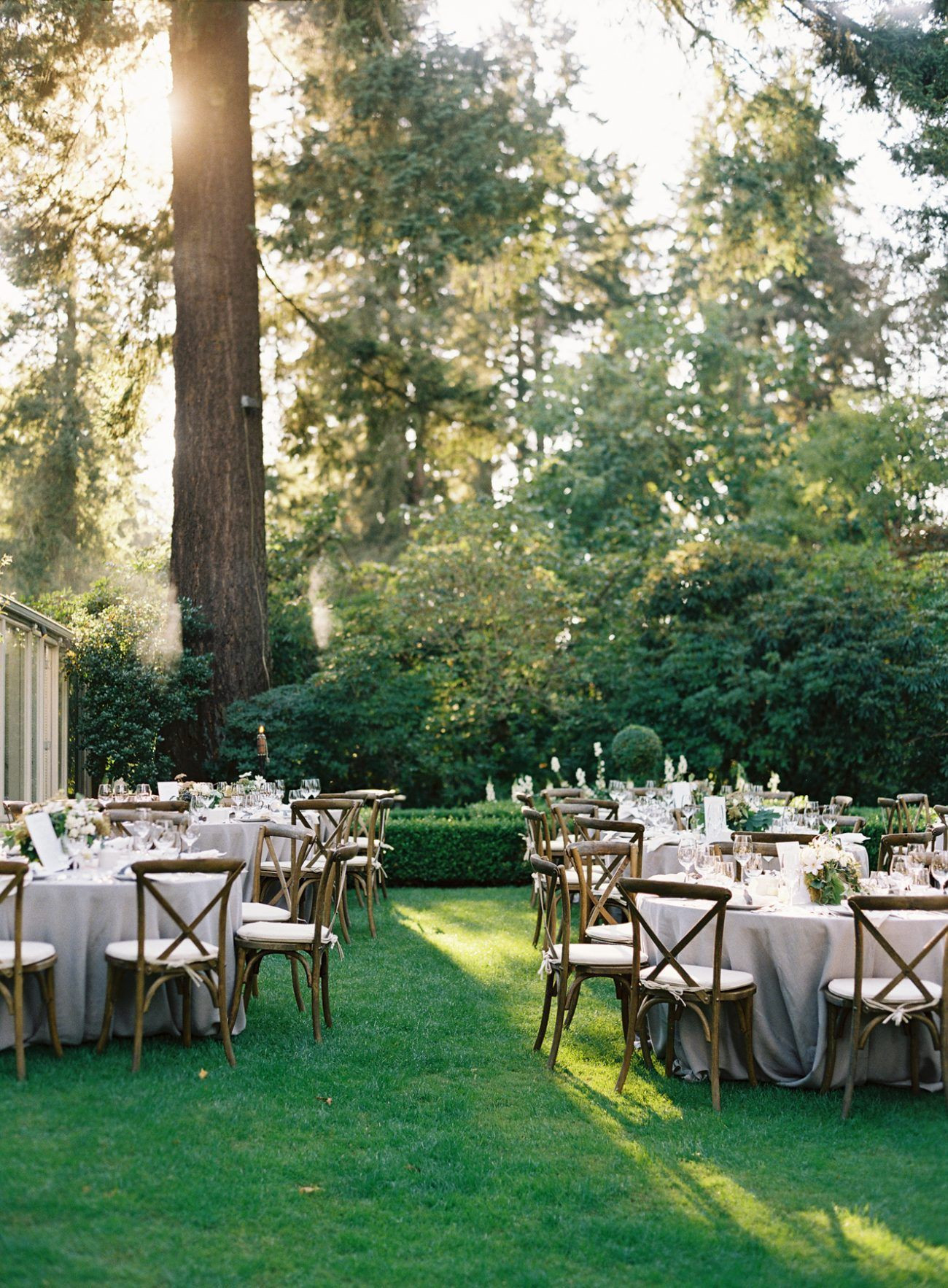 Backyard Wedding Receptions  Elegant Garden Wedding Reception Real Weddings