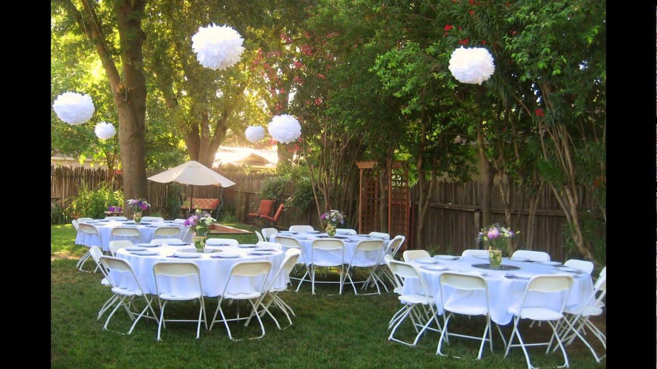 Backyard Wedding Receptions  Backyard wedding reception ideas