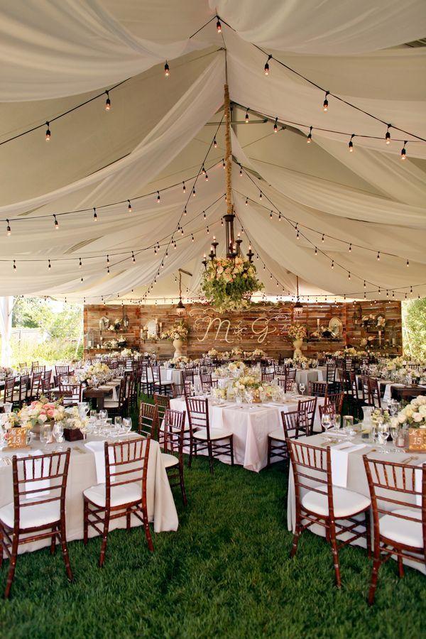 Backyard Wedding Receptions  35 Rustic Backyard Wedding Decoration Ideas