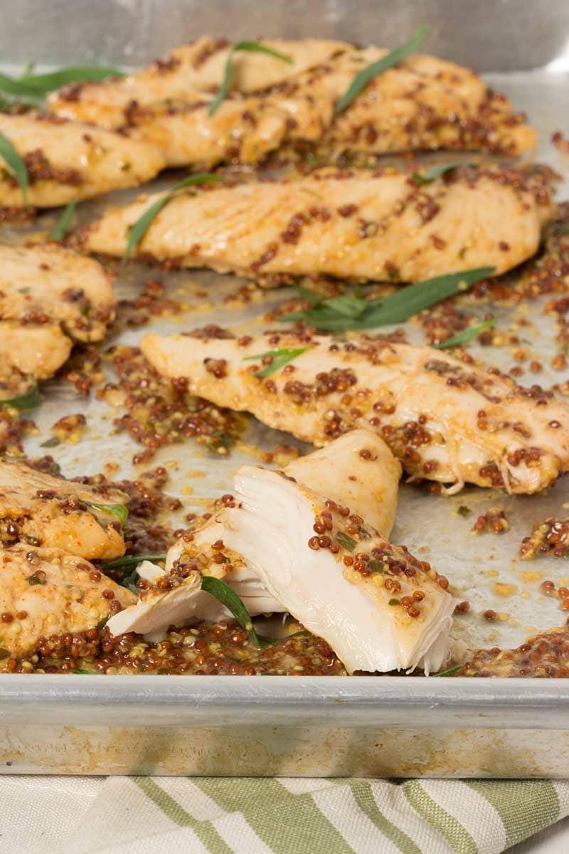 Baked Chicken Tenderloin Recipes  Mustard Baked Chicken Tenders
