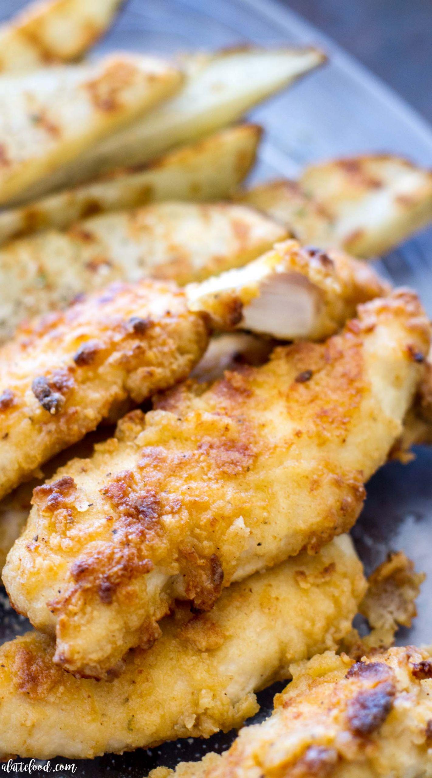 Baked Chicken Tenderloin Recipes  Oven Baked Ranch Chicken Tenders A Latte Food