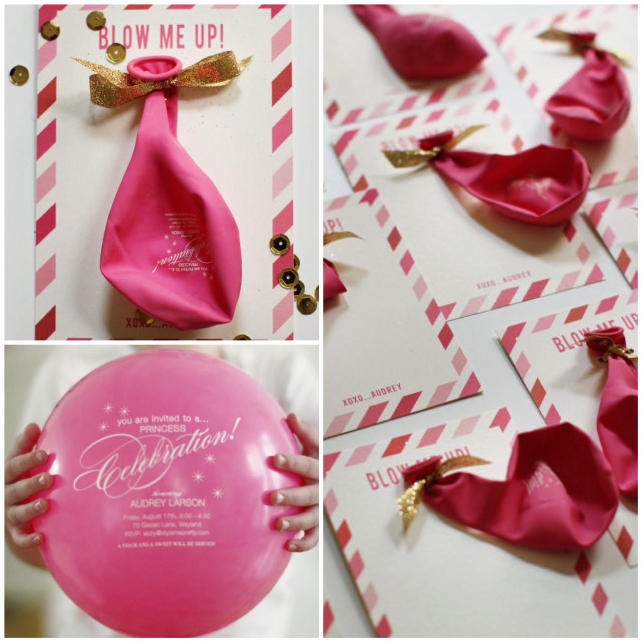 Balloon Birthday Invitations  Balloon Invitations
