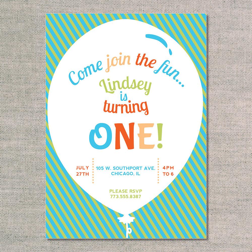 Balloon Birthday Invitations  big balloon uh oh pasghettio
