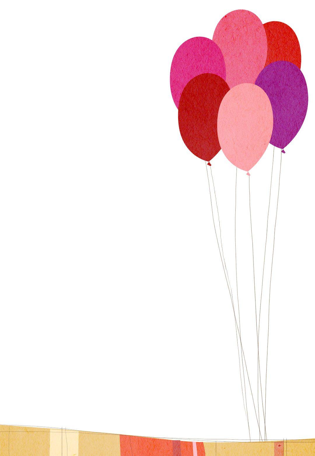 Balloon Birthday Invitations  Free Printable Birthday Balloons Invitation