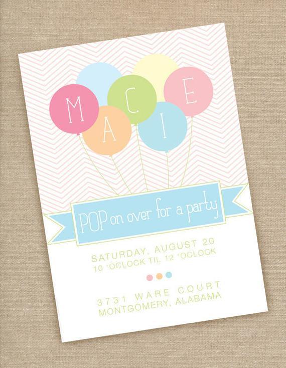 Balloon Birthday Invitations  Items similar to Printable Balloon Birthday Party