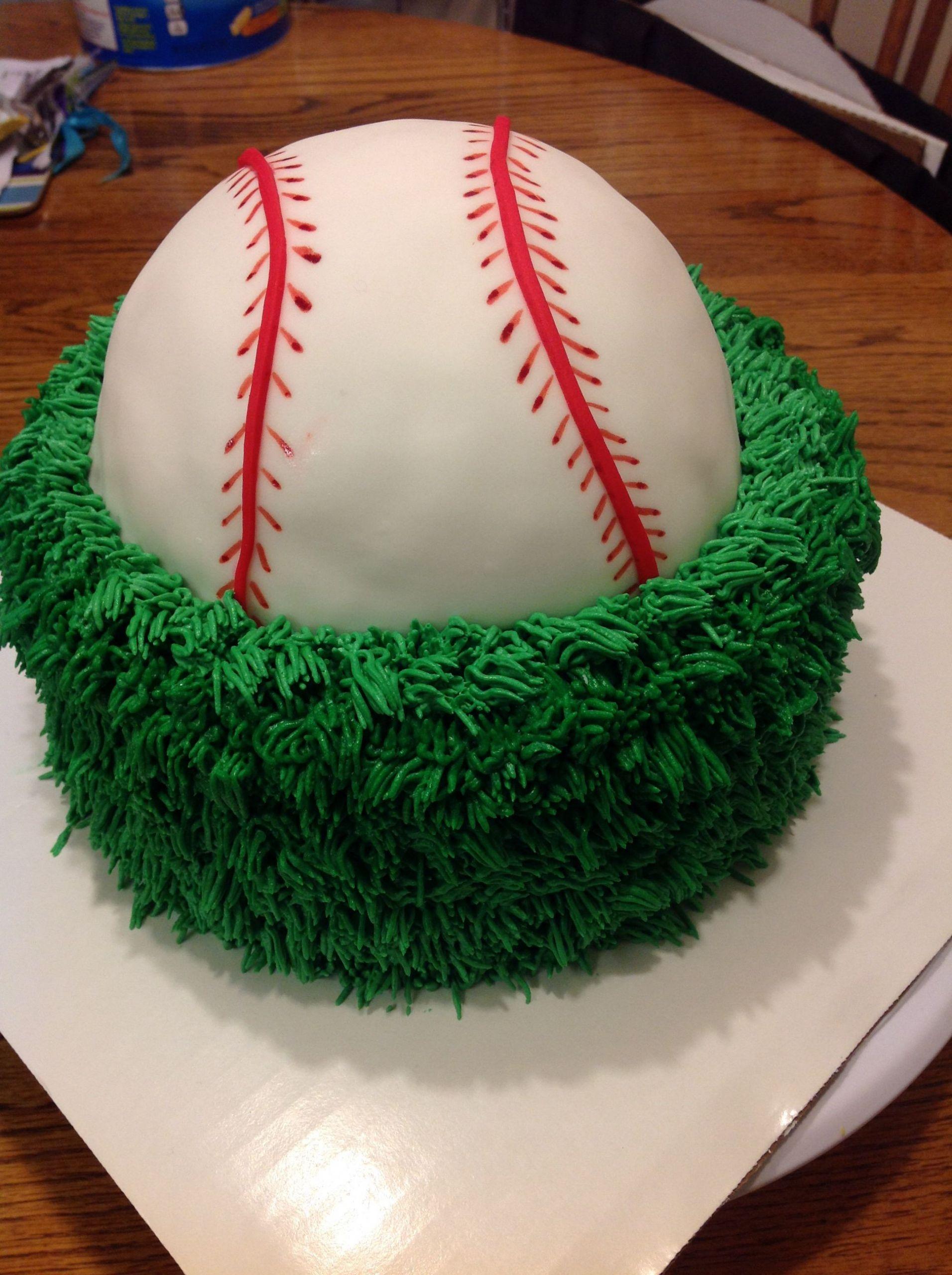Baseball Birthday Cake  Baseball cake