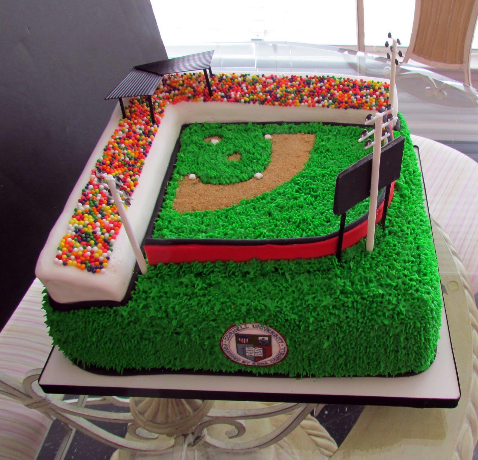 Baseball Birthday Cake  Alamo Sweets LLC Baseball Field Birthday Cake