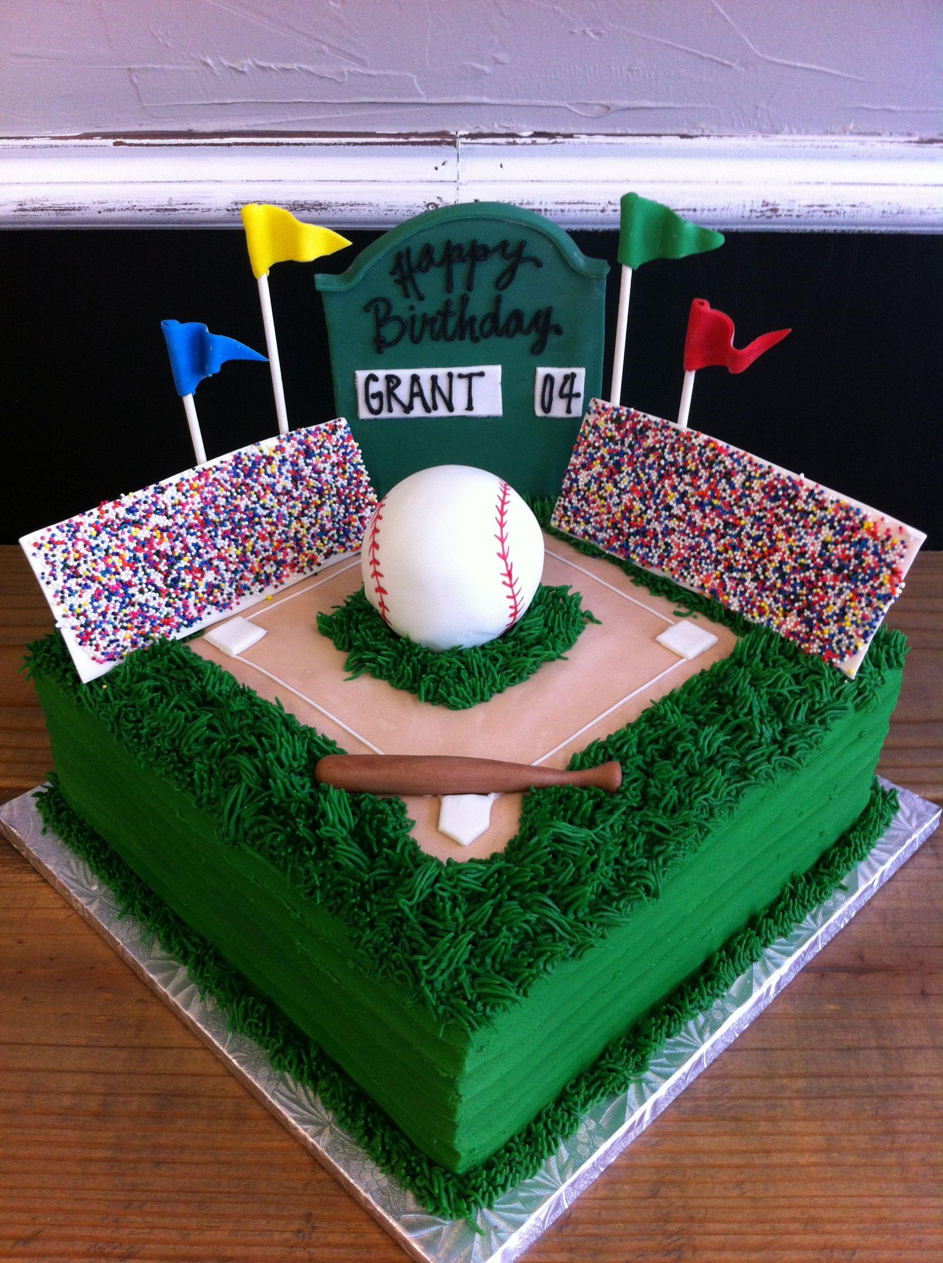 Baseball Birthday Cake  Party cakes in McKinney and Dallas Texas