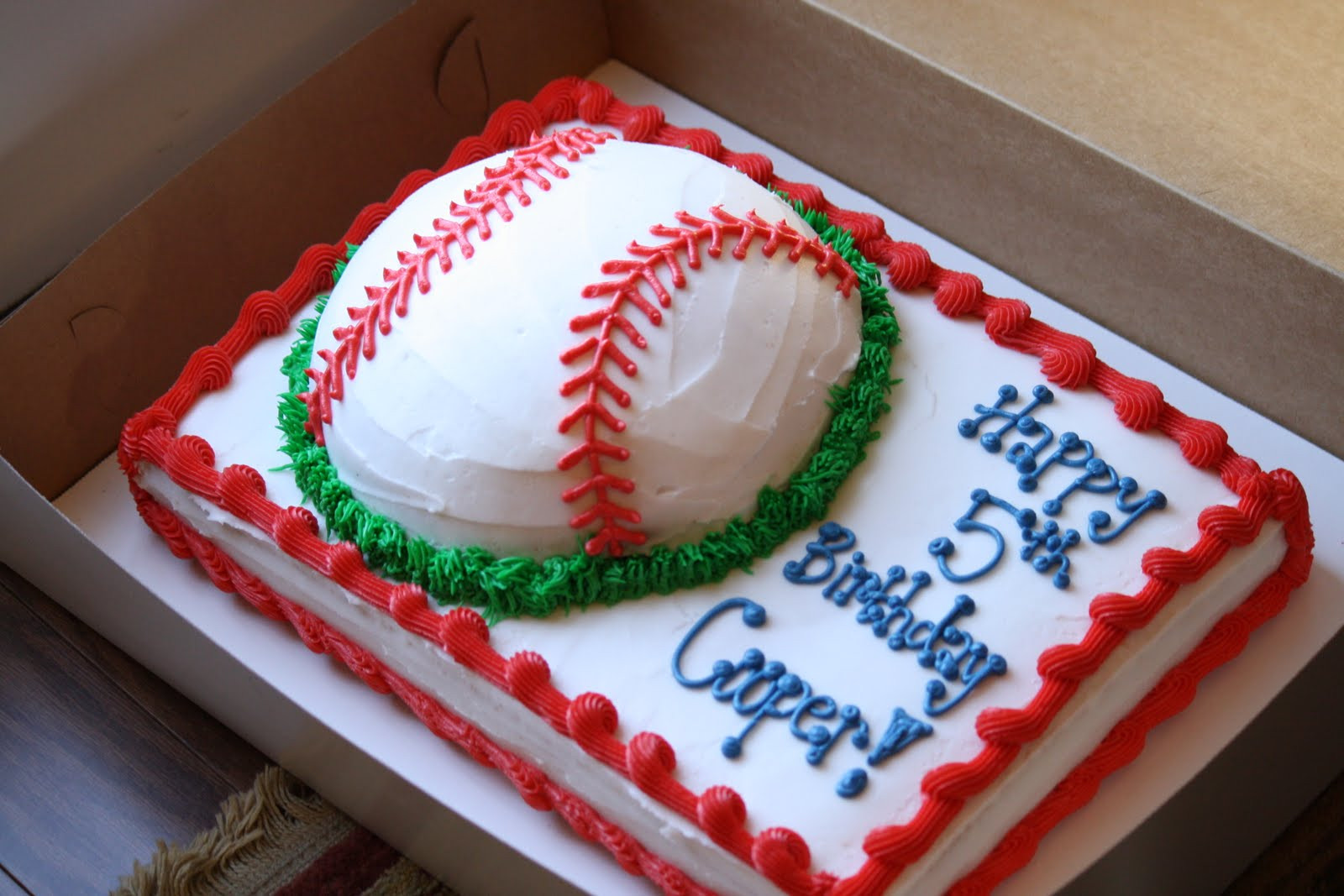 Baseball Birthday Cake  A Perfect Bite Cooper s 5th Birthday Baseball Cake