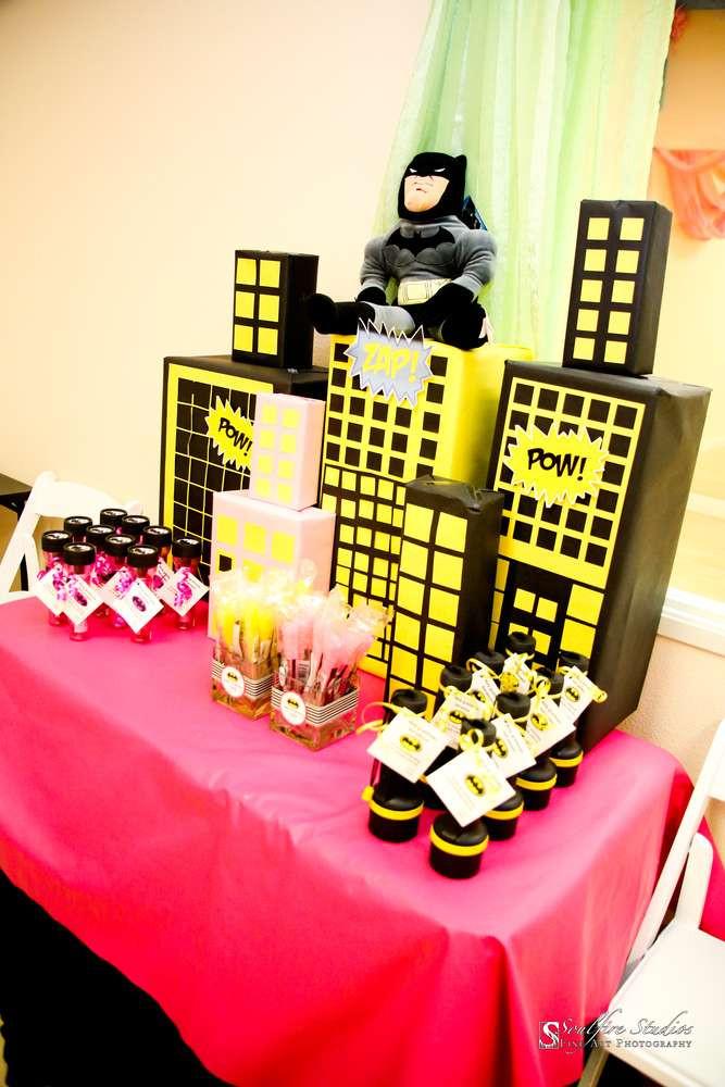 Batgirl Birthday Party Supplies  Super Heroes Batman Batgirl Hot Pink Yellow Black