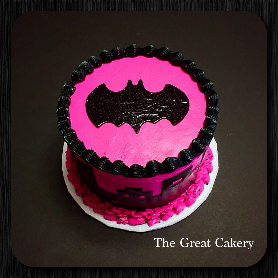 Batgirl Birthday Party Supplies  Pink Batgirl layer cake