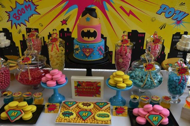 Batgirl Birthday Party Supplies  Supergirl Batgirl and Wonder Woman Unite For This
