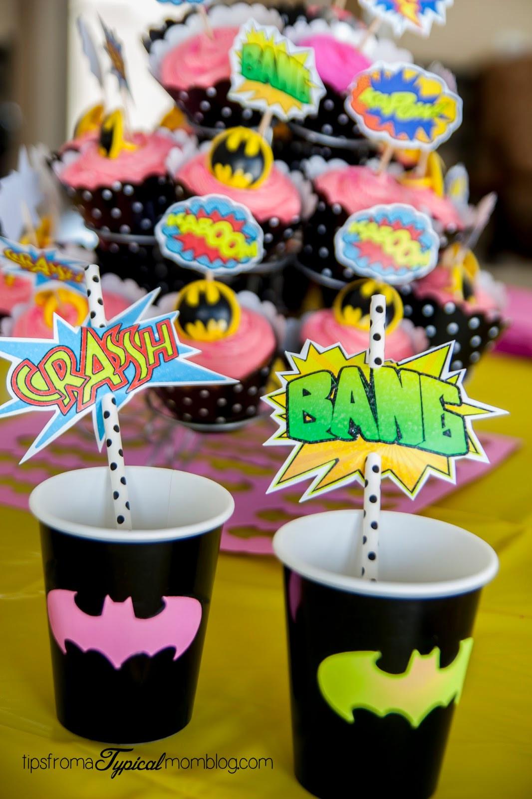 Batgirl Birthday Party Supplies  Superhero Girl Birthday Party Ideas and Free Printables