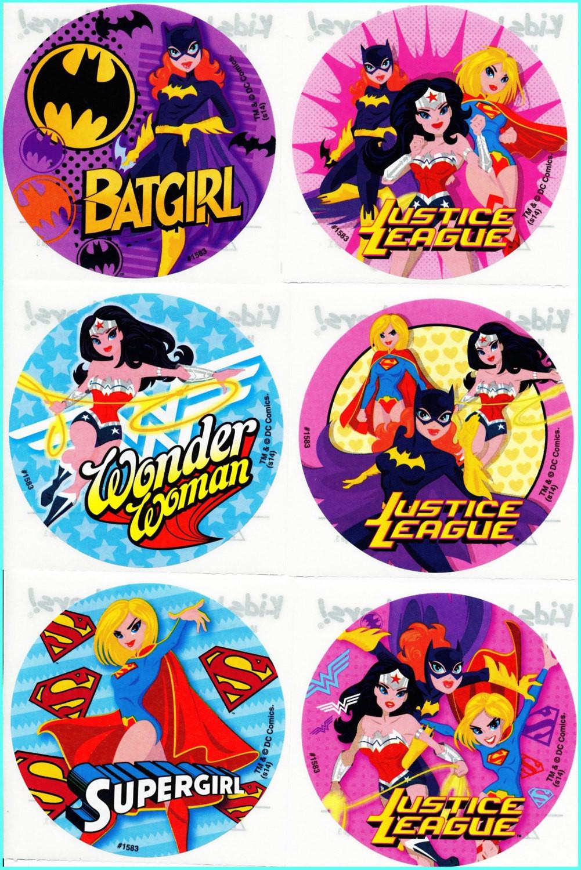 Batgirl Birthday Party Supplies  Batgirl Supergirl Wonder Woman Stickers Envelope Seals