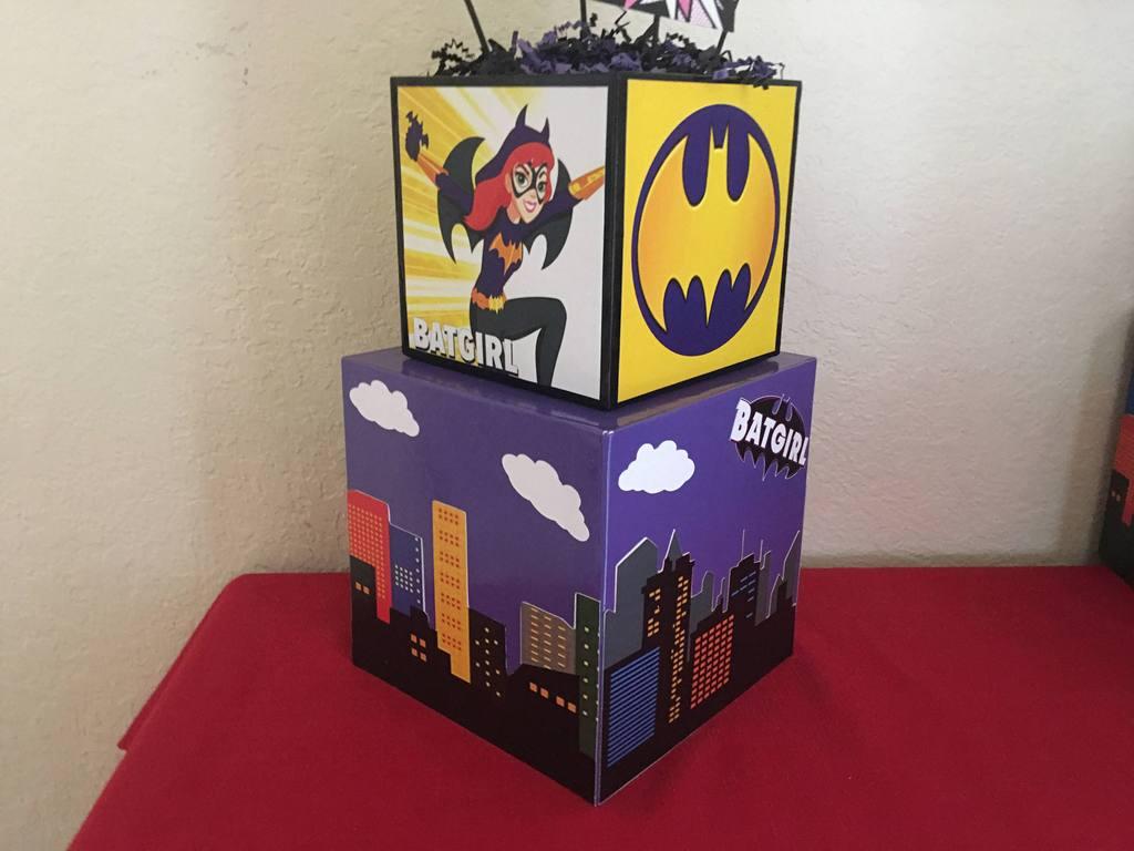 Batgirl Birthday Party Supplies  Batgirl DC SuperHero Girl Centerpiece batgirl superhero