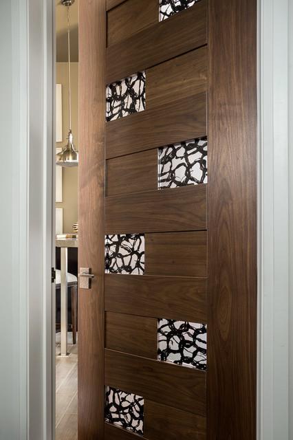Bathroom Door Design  Las Vegas Modern Home Interior Solid Wood Walnut Door