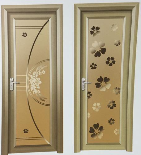 Bathroom Door Design  Aluminum Glass Bathroom Door