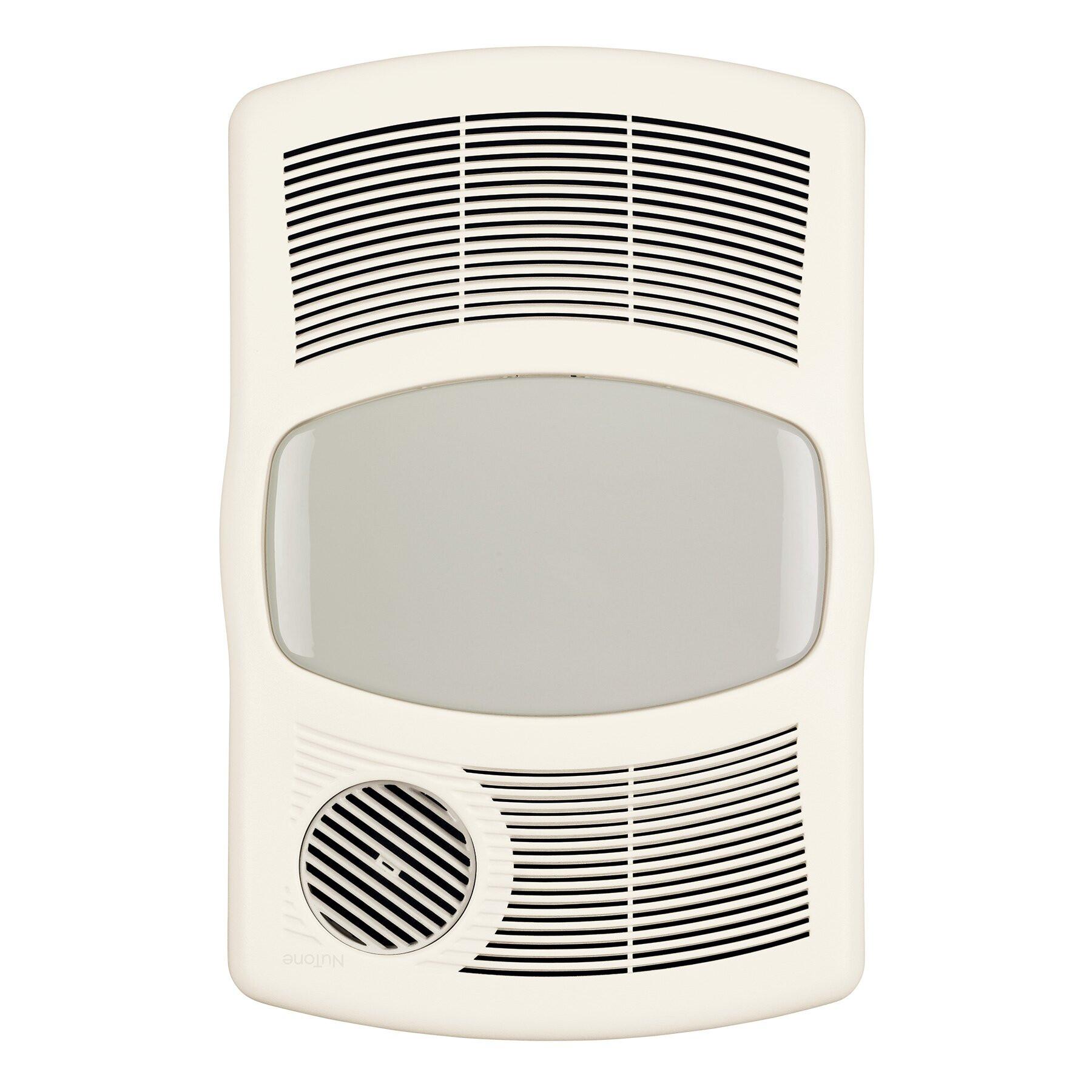 Bathroom Exhaust Fan With Heater  Broan 100 CFM Exhaust Bathroom Fan with Heater & Reviews