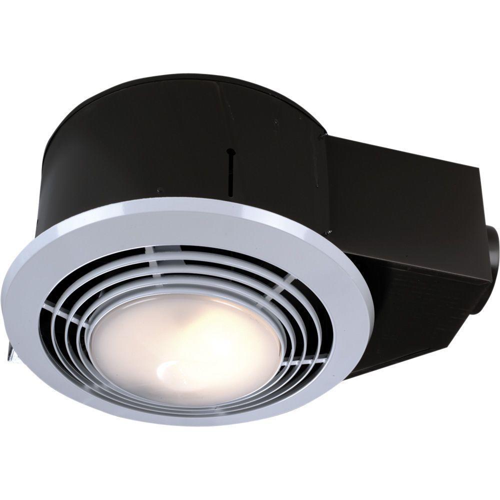 Bathroom Exhaust Fan With Heater  NuTone 100 CFM Ceiling Bathroom Exhaust Fan with Light and