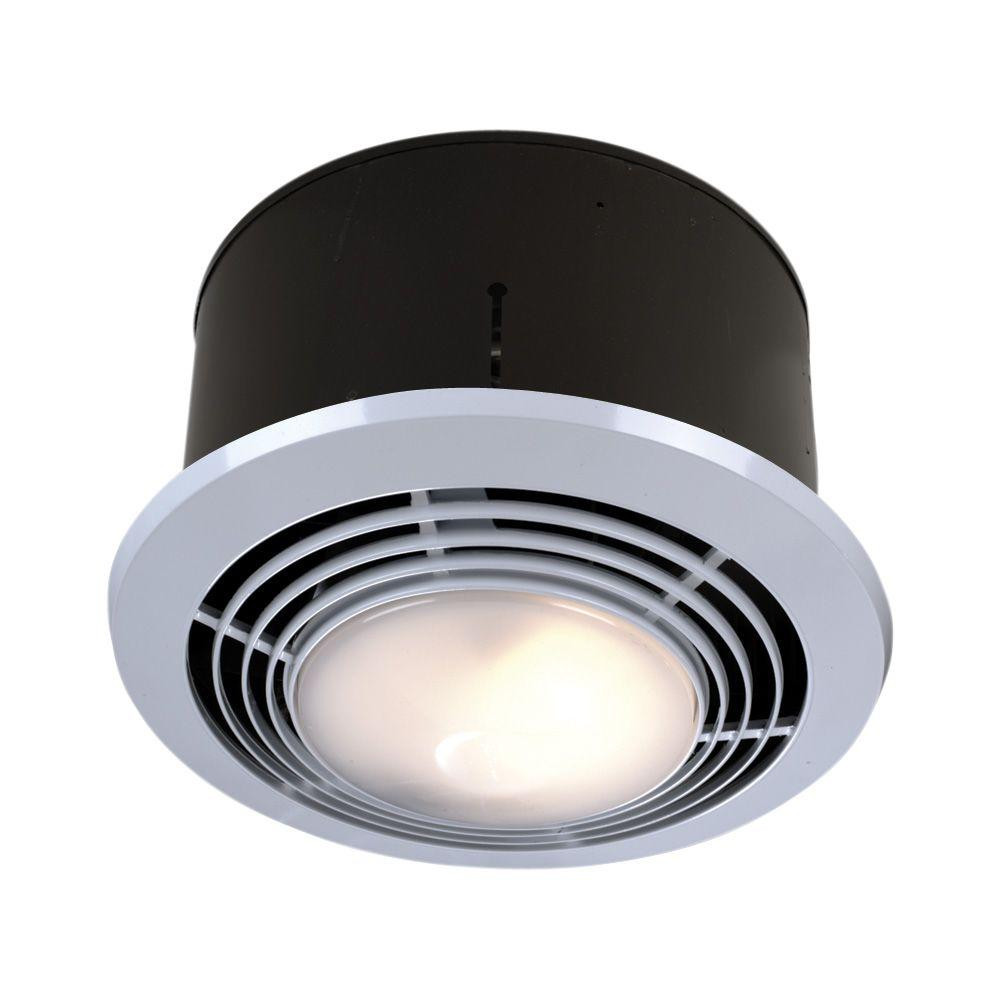 Bathroom Exhaust Fan With Heater  NuTone 70 CFM Ceiling Bathroom Exhaust Fan with Light and