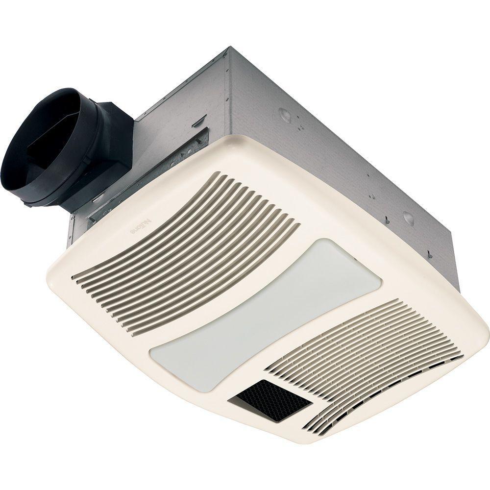 Bathroom Exhaust Fan With Heater  NuTone QT Series Very Quiet 110 CFM Ceiling Bathroom