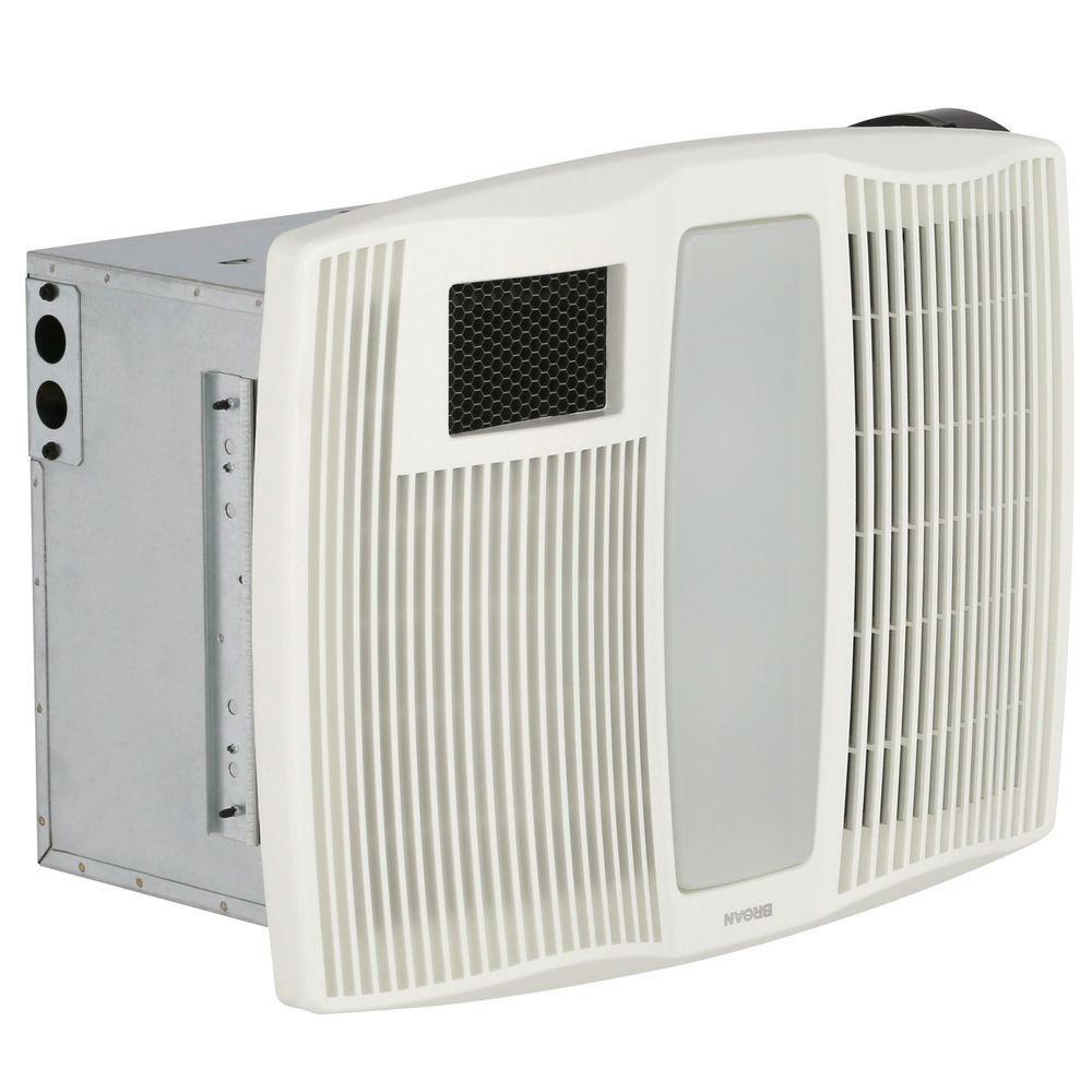 Bathroom Exhaust Fan With Heater  Broan QT Series Very Quiet 110 CFM Ceiling Bathroom