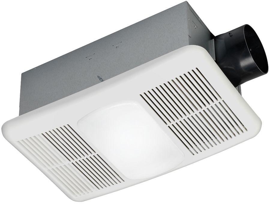 Bathroom Exhaust Fan With Heater  New White Bathroom Fan 1 5 Sone 80 CFM Integrated Heater