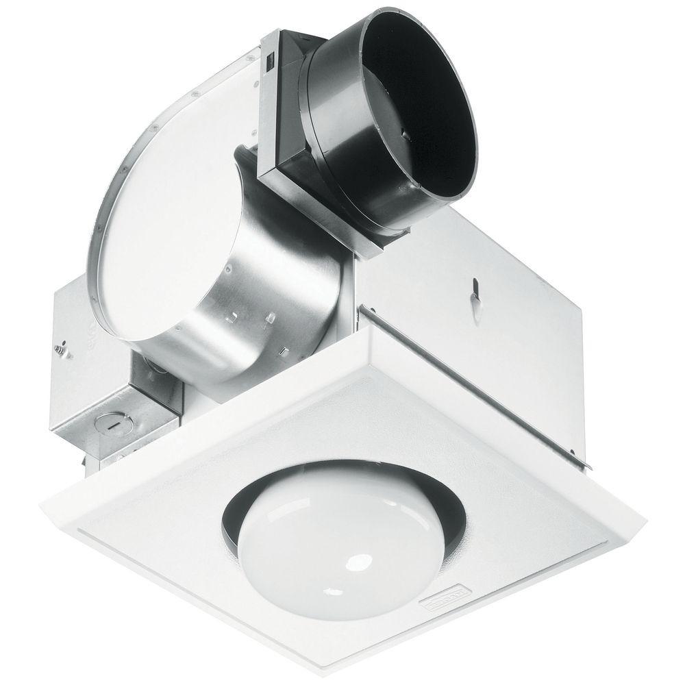 Bathroom Exhaust Fan With Heater  Bathroom 70 CFM Exhaust Fan with Heat Lamp and Light