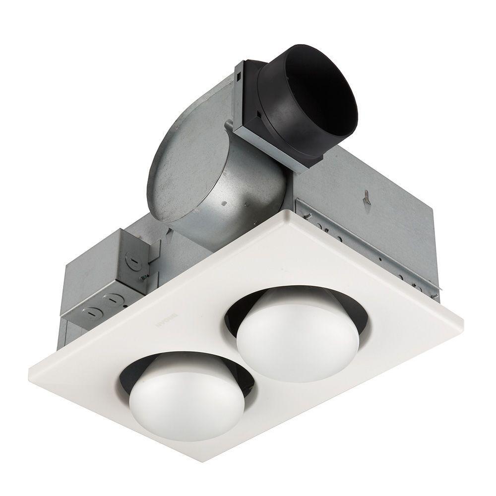 Bathroom Exhaust Fan With Heater  Broan 70 CFM Ceiling Bathroom Exhaust Fan with 500 Watt 2