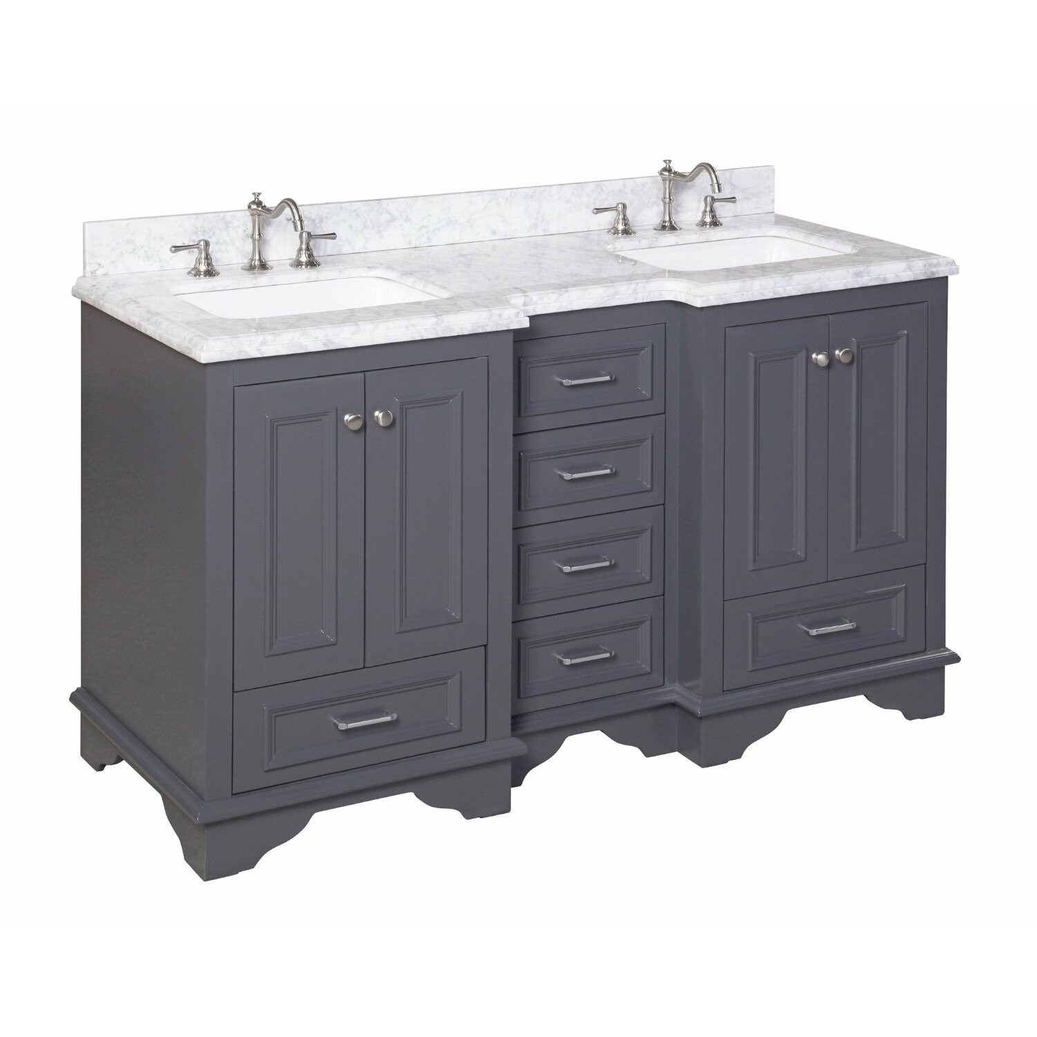 "Bathroom Sink Set  KBC Nantucket 60"" Double Sink Bathroom Vanity Set"