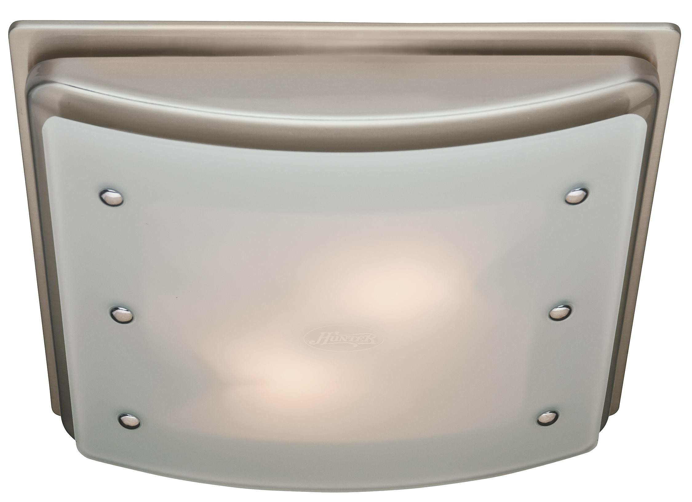 Bathroom Vent And Light  Hunter Ellipse Bathroom Ventilation Exhaust Fan with