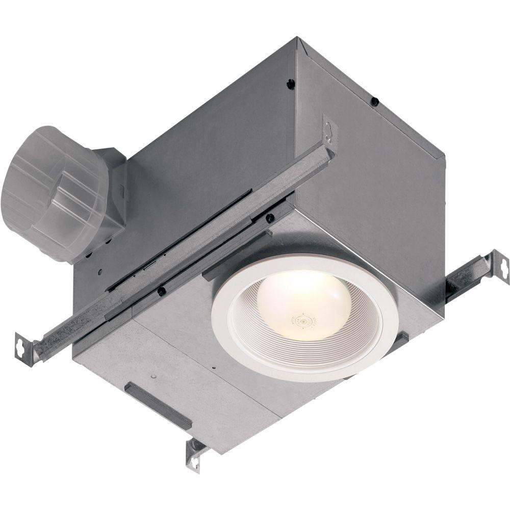 Bathroom Vent And Light  NuTone 70 CFM Ceiling Bathroom Exhaust Fan with Recessed