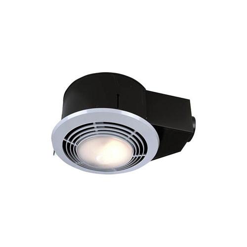 Bathroom Vent And Light  Nutone QT9093WH Bathroom 110 CFM Vent bination Fan