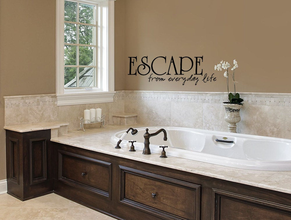 Bathroom Wall Stickers  Bathroom Decor Wall Sticker Bathtub Escape Bathroom Wall