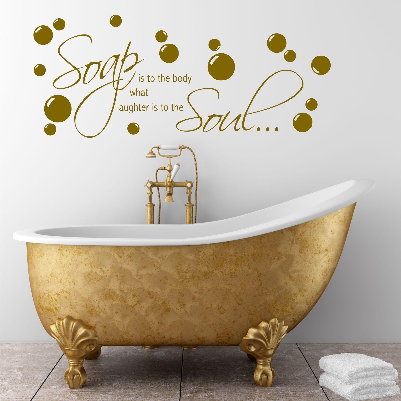 Bathroom Wall Stickers  Bathroom Wall quote Soap Body Wall Sticker Decal Transfer