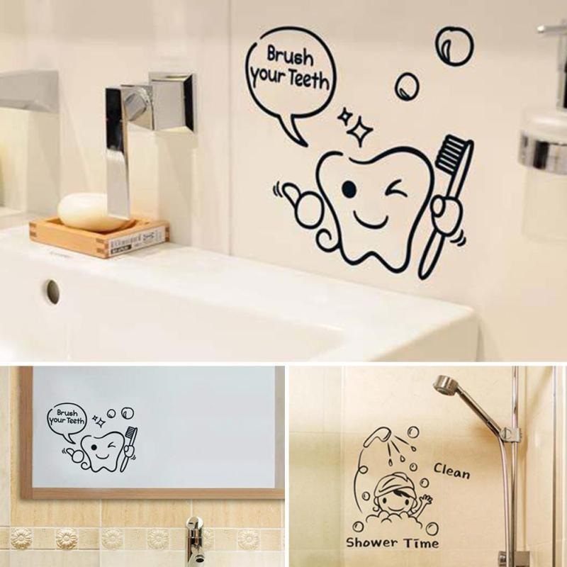 Bathroom Wall Stickers  DIY Funny Bathroom Wall Sticker Glass Door Waterproof Wall