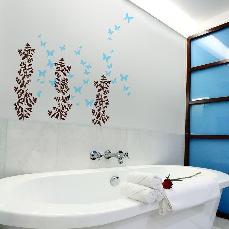 Bathroom Wall Stickers  Modern Bathroom Wall Art Models