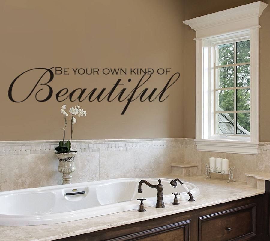 Bathroom Wall Stickers  Bathroom Wall Decals Be Your Own Kind of Beautiful