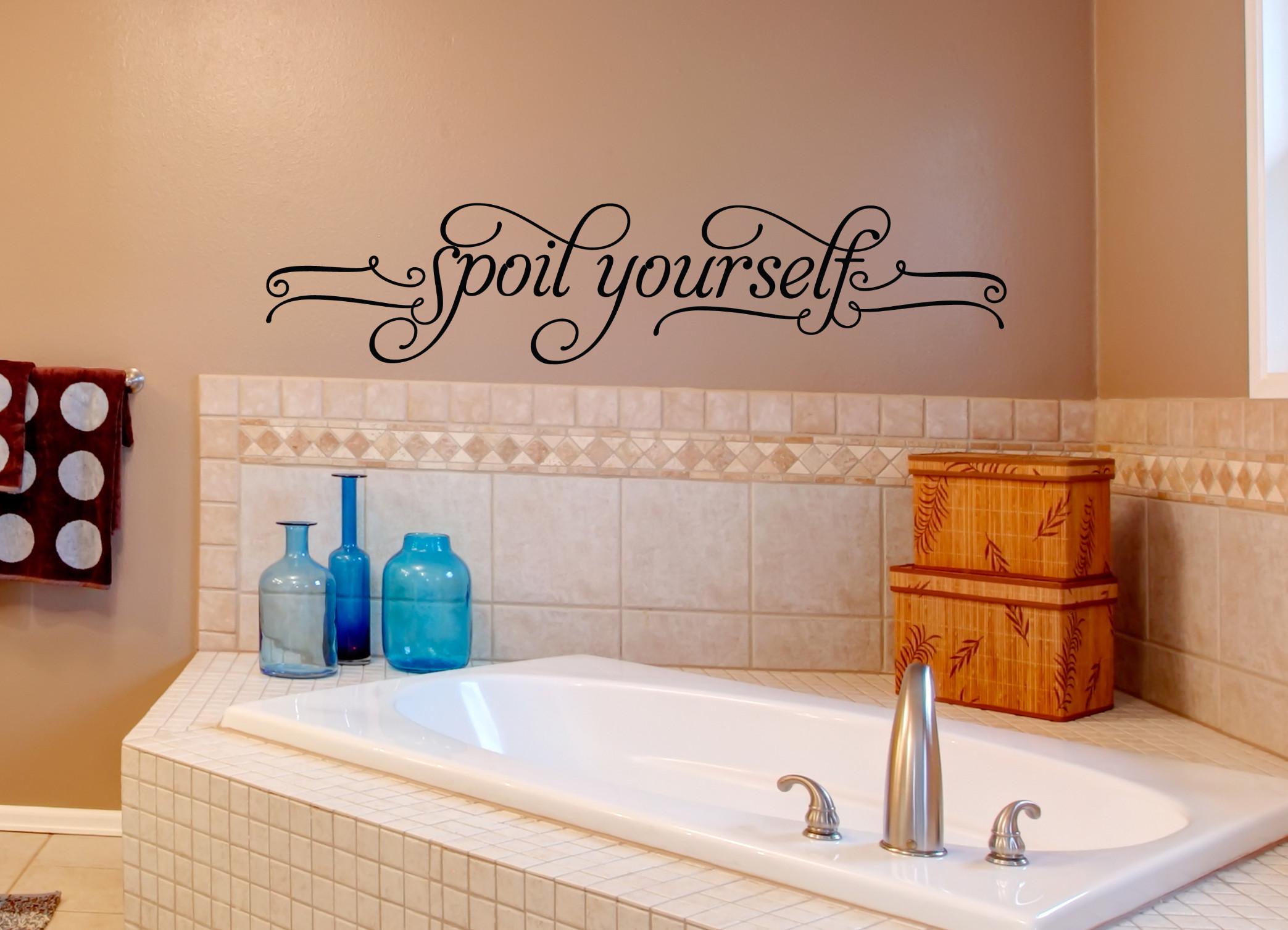 Bathroom Wall Stickers  Bathroom Wall Decals Spoil Yourself