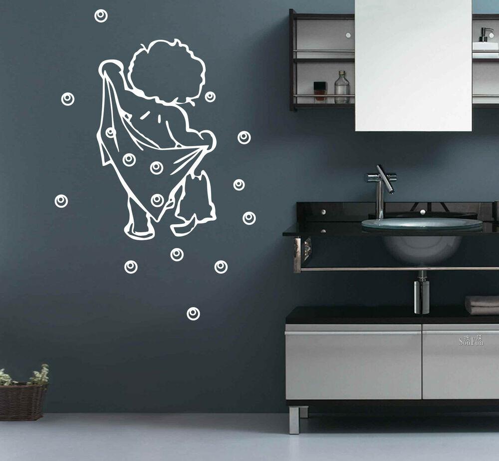 Bathroom Wall Stickers  BATH Bathroom Bubble Removable DIY Wall Stickers Decal UK