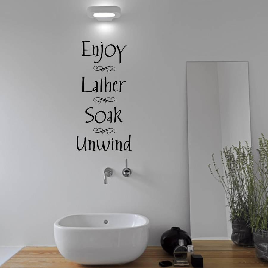 Bathroom Wall Stickers  Bathroom Wall Sticker By Mirrorin